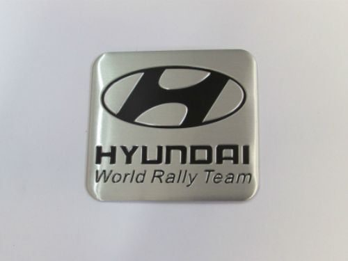 Hyundai World Rally Badge Emblem