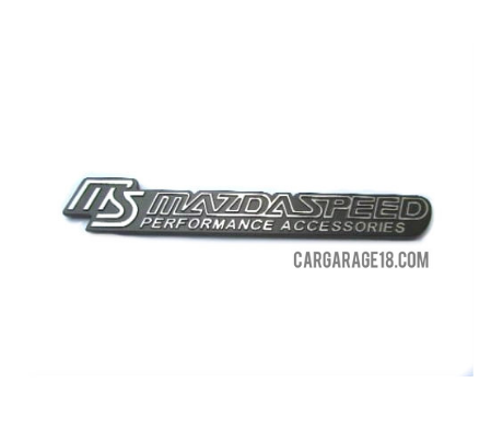 Mazdaspeed Black Emblem With Adhesive At The Back