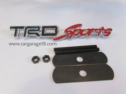 TRD Sports Logo Metal Car Front Hood Grill Badge Grille Emblem Logo Stickers
