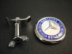 45mm flat mercedes benz front hood bonnet emblem badge for Mercedes benz bonnet badge