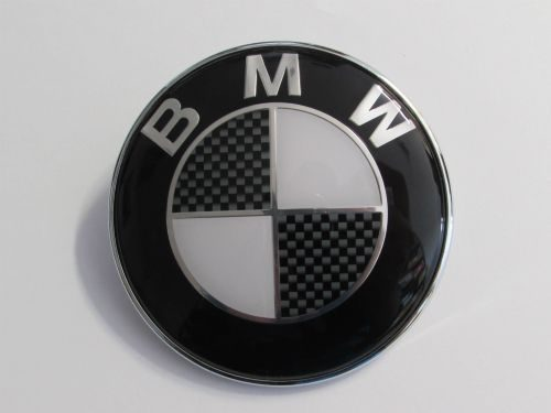 82MM BMW BLACK Boot Bonnet Trunk Hood Replacement Badge Emblem Logo