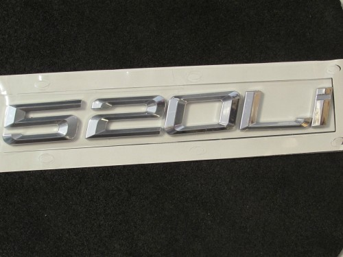 Metal-Auto-silver-520-Li-for-5-Series-520li-Trunk-Rear-Emblem-Badge-Sticker