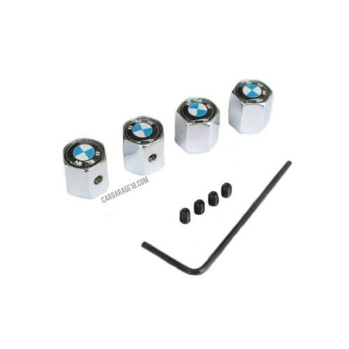 BLUE and WHITE TIRE VALVE CAP FOR BMW
