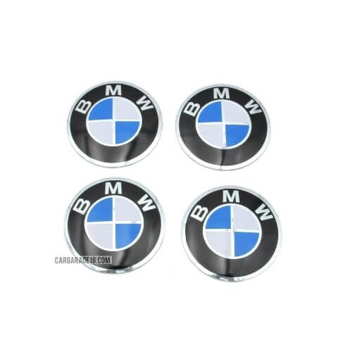 SIZE 58mm BLUE and WHITE WHEEL CENTER EMBLEM FOR BMW (STICKER)
