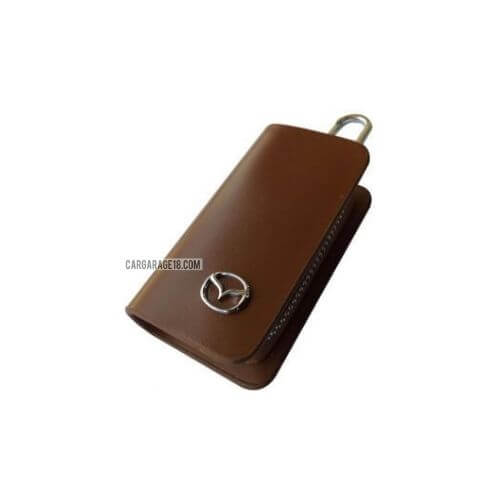SIZE 80x45mm BROWN KEY CASE FOR MAZDA