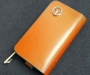 Brown Key Case Mercedes Benz