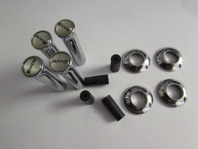 AMG LETTER STYLE CHROME METAL CAR DOOR LOCK PINS