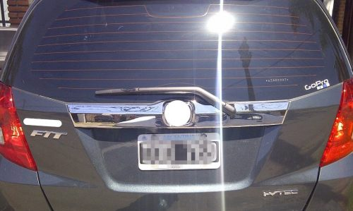 CHROME TRUNK LID MOULDING (COVER) FOR HONDA FIT JAZZ (2008)