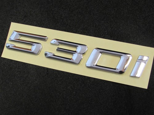 530i-NUMBER-REAR-CHROME-BADGE-EMBLEM-LETTER-BMW-5-SERIES-E60-E61-F10-F11