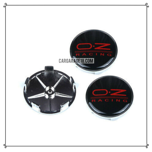 BLACK AND RED OZ RACING WHEEL CENTER CAP SIZE 65mm