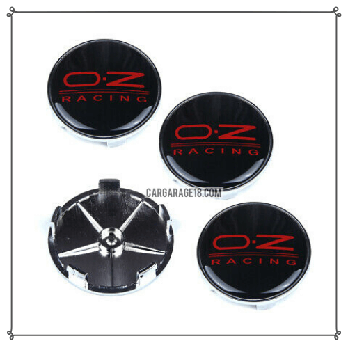 BLACK AND RED OZ RACING WHEEL CENTER CAP SIZE 68mm