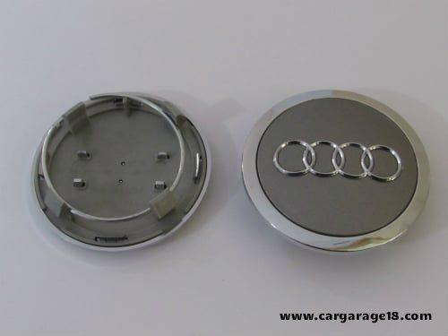 Audi Wheel Center Cap Mm Dop Velg Abu Abu Chrome CarGarage - Audi wheel center caps