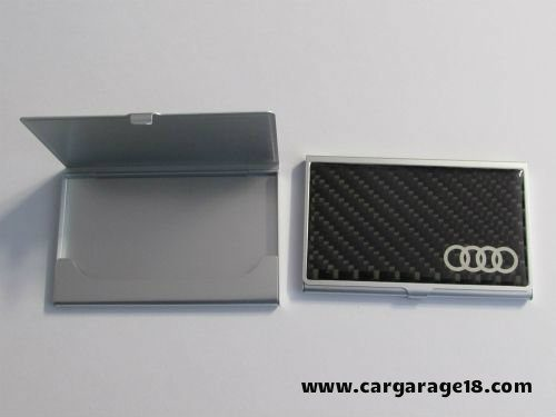 BLACK CARBON THE AUDI LOGO PLACE OF NAME CARD FOR AUDI