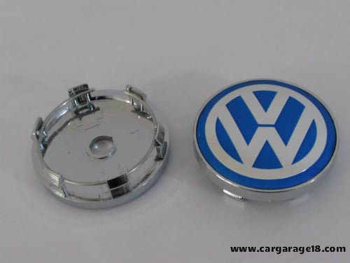 Dop Velg VW 60mm Blue White