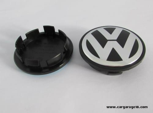 Dop Velg VW 56mm Black and White Cekung