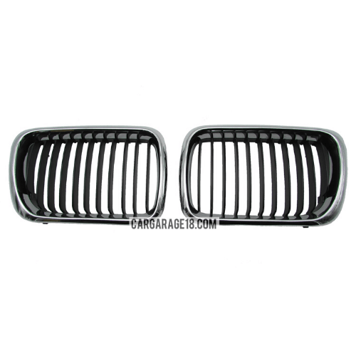 GRILLE-BLACK-CHROME-FOR-BMW-E36-FACELIFT