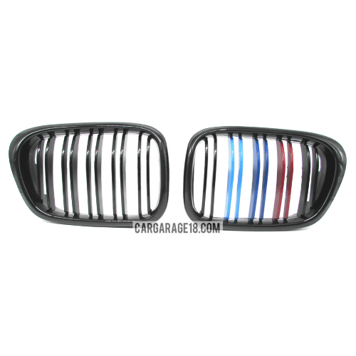 GRILLE-M-COLOUR-GLOSSY-BLACK-DOUBLE-SLATS-FOR-BMW-E39