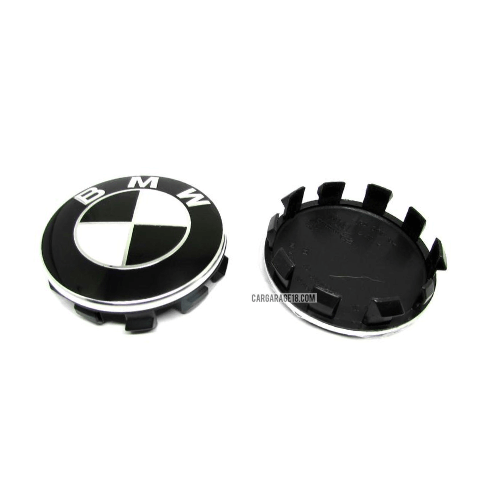 BLACK and WHITE WHEEL CENTER CAP SIZE 56mm FOR BMW