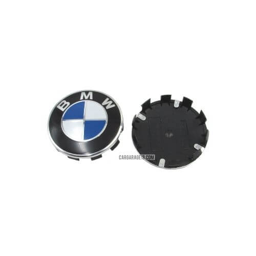 BLUE and WHITE BMW WHEEL CENTER CAP SIZE 68mm
