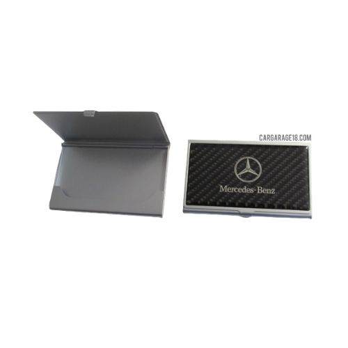 BLACK CARBON THE MERCEDES BENZ LOGO PLACE OF NAME CARD