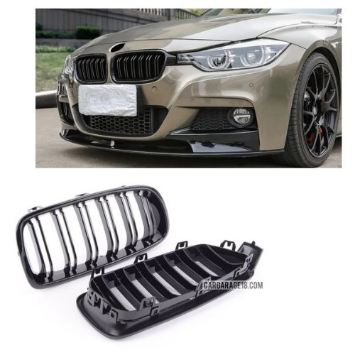 FRONT GRILLE GLOSSY BLACK DOUBLE SLATS FOR BMW F30