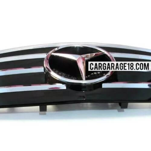 BLACK CHROME GRILL FOR MERCEDES BENZ C-CLASS W203 (2000-2006)