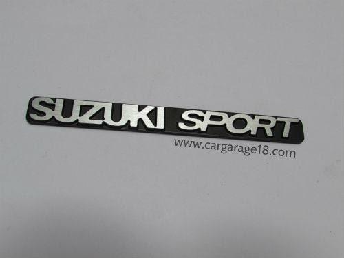 SIZE 104x10mm BLACK SILVER SUZUKI SPORT EMBLEM