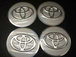 Toyota Wheel Center Caps With Adhesive Tape At The Back