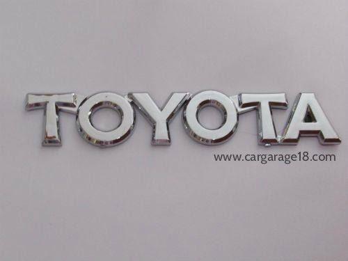 Toyota Letter Logo Size 15x2.5
