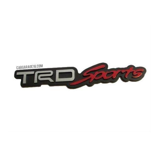 BLACK TRD Sports LETTER EMBLEM FOR TOYOTA