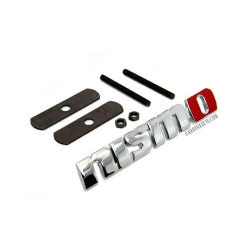 CHROME RED COLOUR nismo GRILLE EMBLEM FOR NISSAN