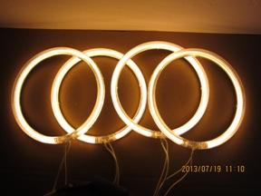 YELLOW FLAME LED ANGEL EYES CCFL FOR BMW E30 E32 E34