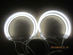 WHITE FLAME COTTON LED ANGEL EYESFOR BMW E46 2D/4D NON PROJECTOR
