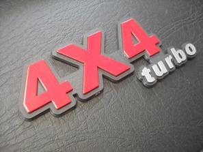 4x4 Turbo Red Emblem