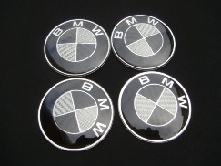 Center Wheel Caps BMW Carbon Black With size 68mm