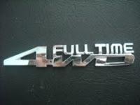 CHROME 4WD FULL TIME EMBLEM