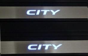 Door Sill Plate LED Honda City (OEM) Black