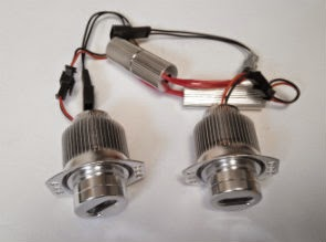WHITE FLAME LED MARKER ANGEL EYES FOR BMW E90, E91 NON LCI (2005-2008)