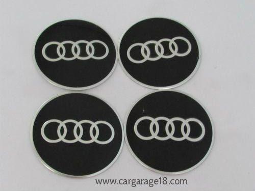 Audi Emblem Wheel Centre Cap Sticker Logo Badge Wheel Trims 60mm