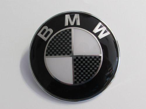 82MM BMW BLACK Boot Bonnet Trunk Hood Replacement Badge Emblem Logo