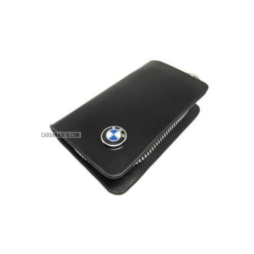 SIZE 80x45mm BLACK KEY CASE FOR BMW