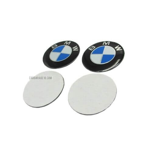 SIZE 55mm BLUE and WHITE WHEEL CENTER EMBLEM FOR BMW (STICKER)