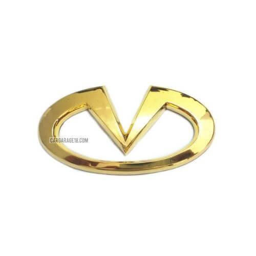 SIZE 123x60mm GOLD INFINITI LOGO EMBLEM