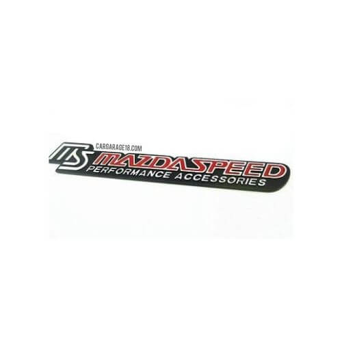 SIZE 185x30mm BLACK RED MAZDA SPEED PERFORMANCE ACCESSORIES EMBLEM