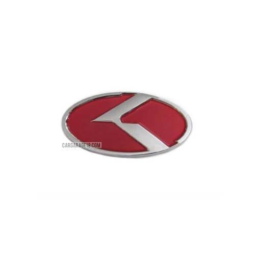 SIZE 130x65mm RED KIA LOGO EMBLEM FOR NEW RIO