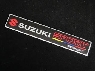SIZE 15x2.5cm SUZUKI SPORT Motorsport EMBLEM