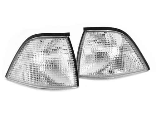 92-99-Genuine-BMW-E36-3-SERIES-2DR-COUPE-Convertible-EURO-CORNER-LIGHT-Chrome-M3-CLEAR