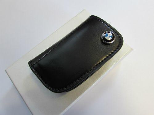 SIZE 75x45mm BLACK KEY CASE FOR BMW