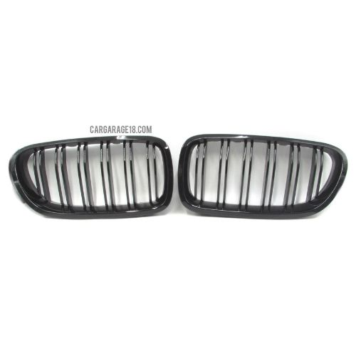 GLOSSY BLACK FRONT GRILLE DOUBLE SLATS FOR BMW F10