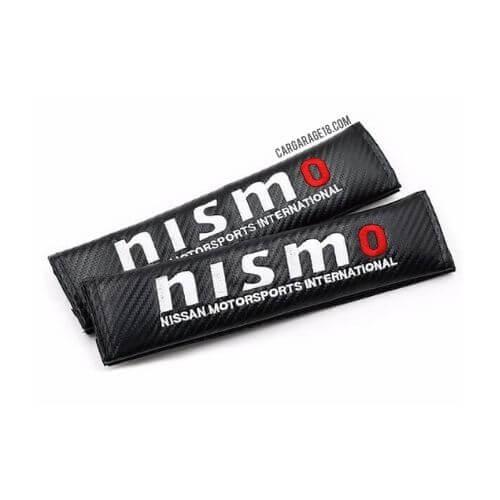 BLACK CARBON nismo LOGO SEAT BELT COVER FOR NISSAN